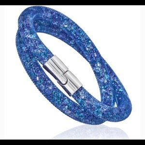 Swarovski StardustBlue Double Bracelet/Choker NWOT